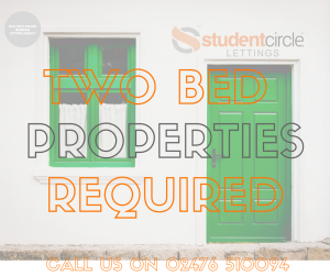 2 bed student flats required